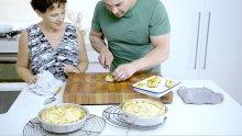 Maltese baked ricotta pie