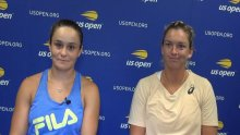 Barty and CoCo all smiles after reaching US Open doubles final