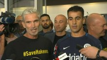 Hakeem Al-Araibi speaks for the first time after arriving back in Melbourne