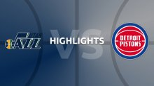 NBA Highlights - Utah Jazz v Detroit Pistons