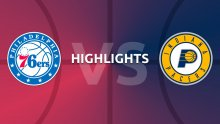 NBA Highlights - Philadelphia 76ers v Indiana Pacers