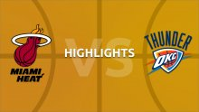 NBA Highlights - Miami Heat v Oklahoma City Thunder